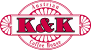 K and K Coffee House Sticky Logo